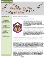 July 2011 Newsletter – Feathers In The Wind