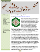 September 2011 Newsletter – Feathers In The Wind
