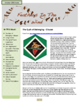 October 2011 Newsletter – Feathers In The Wind
