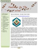 November 2011 Newsletter – Feathers In The Wind