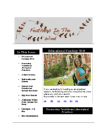 January 2014 Newsletter – Feathers In The Wind