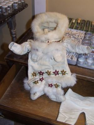 Child's winter doeskin suit circa late 1800s