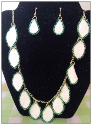 #10 White Deerskin Beaded Necklace