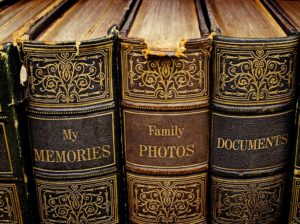 Old family records and photos can be helpful in research.