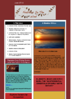 June 2014 Newsletter – Feathers In The Wind