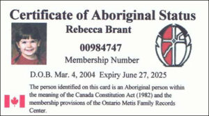A sample of a Status Certificate Card from the OMFRC.