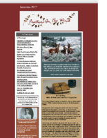 November 2017 Newsletter-Feathers In The Wind